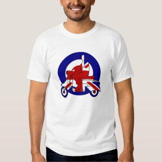 Retro Mod Scooter Boy UK T-shirt