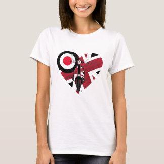 Retro Mod Scooter Heart T-Shirt