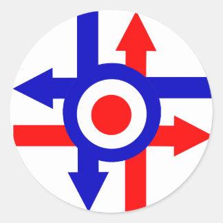 Retro Mod target and Arrows design Round Sticker