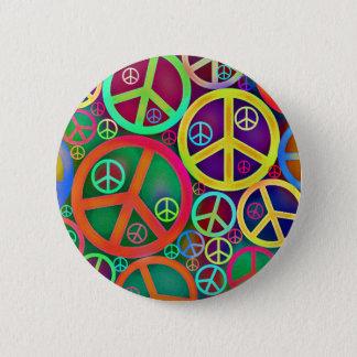 Retro Mod Vintage Peace 6 Cm Round Badge