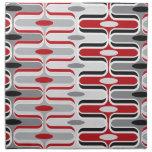 Retro Mod Zig Zag Pattern Red Black Art Napkin