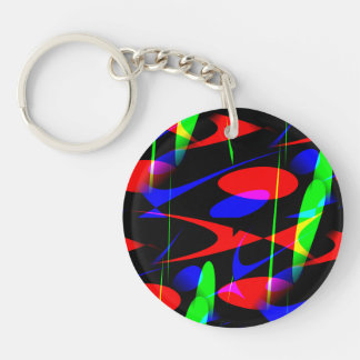 Retro Modern Abstract Keychains