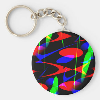 Retro Modern Abstract Key Chains
