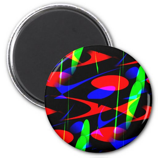 Retro Modern Abstract Magnet