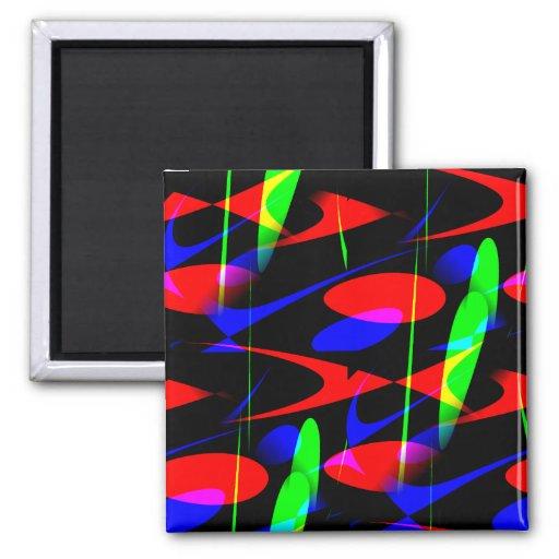 Retro Modern Abstract Fridge Magnets
