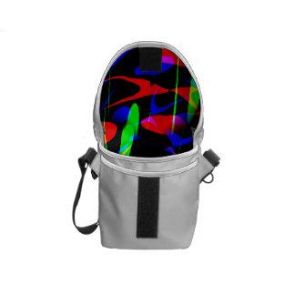 Retro Modern Abstract Messenger Bag