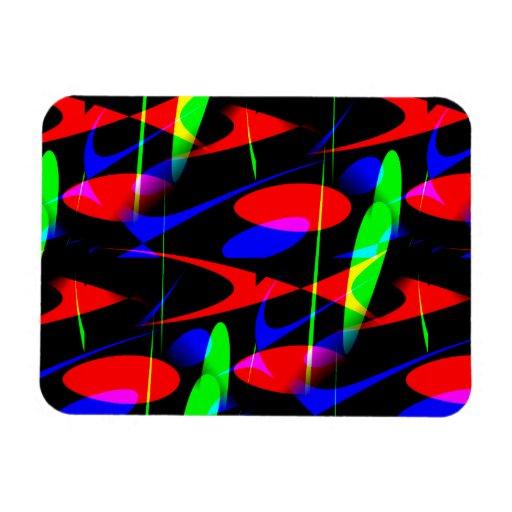 Retro Modern Abstract Rectangular Magnet