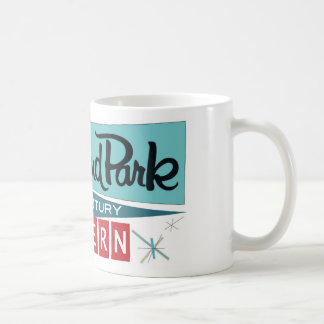 Retro Modern Celebration Mug - Bright White 11 oz