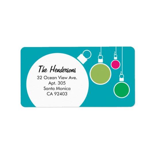 Retro Modern Christmas Return Address Label