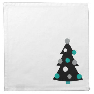 Retro Modern Christmas Tree Napkin