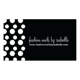 Retro Modern Dots (White & Black) Business Cards