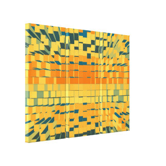 Retro modern liquid abstraction gallery wrapped canvas