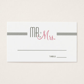 Retro Modern Wedding Escort Place Card