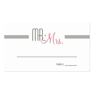 Retro Modern Wedding Escort Place Card Pack Of Standard Business Cards