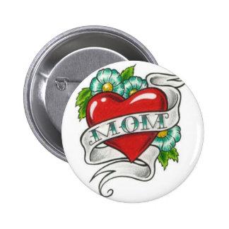 Retro Mom Tattoo 6 Cm Round Badge
