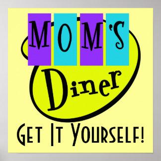 Retro MOM'S DINER Wall Art