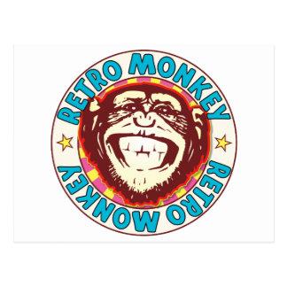 Retro Monkey Postcard