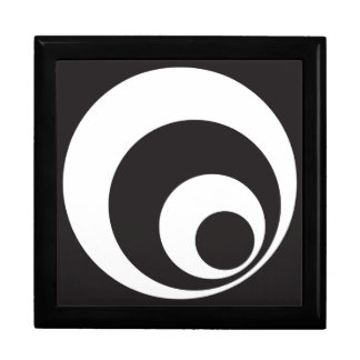 Retro Monochrome Circles Design Gift Box