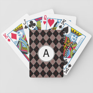 Retro Monogrammed Playing Cards Men's Gift