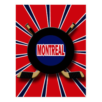 RETRO MONTREAL HOCKEY POSTCARD