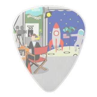 Retro Moon Landing Guitar Pick Polycarbonate Guitar Pick