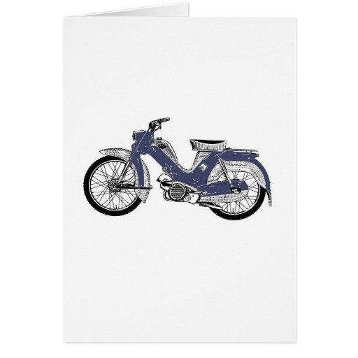 Retro moped Tunturi Greeting Card