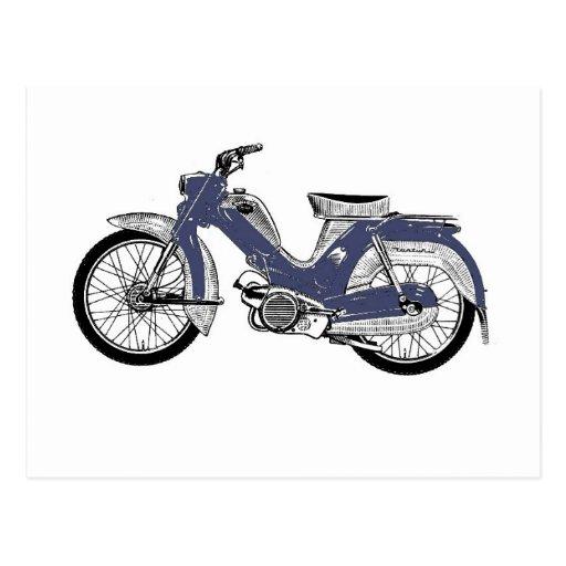 Retro moped Tunturi Postcards