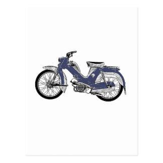 Retro moped Tunturi Postcard