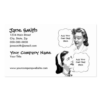 Retro Mother Daughter Business Card