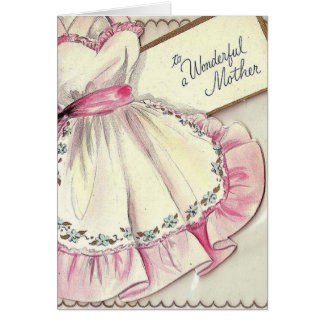 Retro Mother's Apron Mother's Day Card