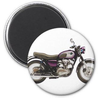 Retro Motorcycle 6 Cm Round Magnet