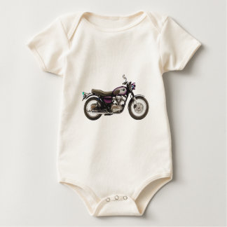 Retro Motorcycle Baby Bodysuit