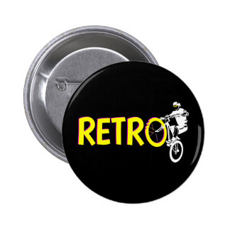 Retro Mountain bike 6 Cm Round Badge