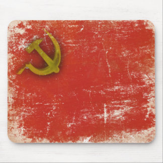 Retro Mousepad with Dirty Old Soviet Union Flag