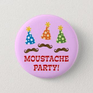 Retro Moustache Party 6 Cm Round Badge