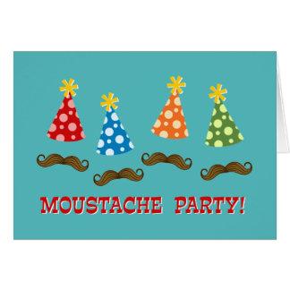 Retro Moustache Party Card