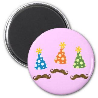 Retro Moustache Party Magnet