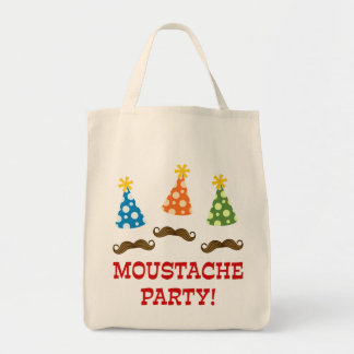 Retro Moustache Party Tote Bag