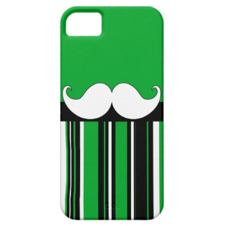 Retro Moustache Stache Mustache with Green Stripes Case For The iPhone 5