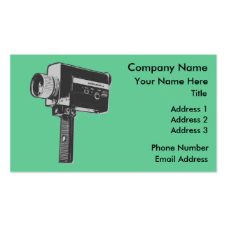 Retro Movie Camera Pack Of Standard Business Cards