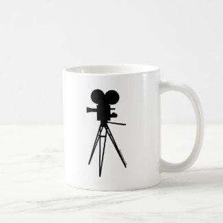 Retro Movie Camera Silhouette Coffee Mug