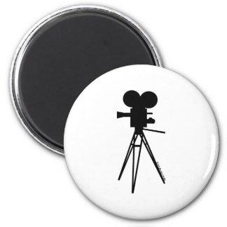 Retro Movie Camera Silhouette Fridge Magnet