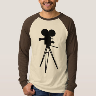Retro Movie Camera Silhouette Men's Shirt