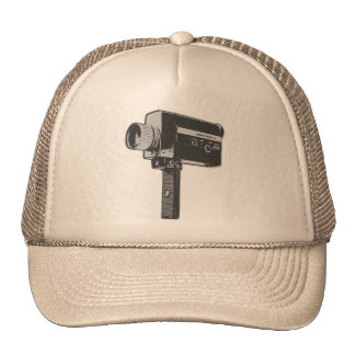 Retro Movie Camera Trucker Hats