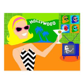 Retro Movie Star Postcard