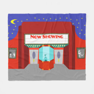 Retro Movie Theater Fleece Blanket