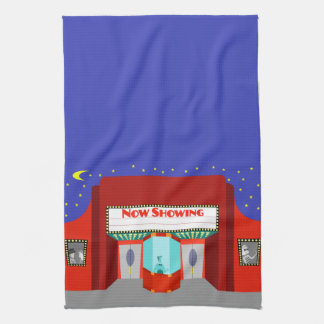 Retro Movie Theater Kitchen Towel