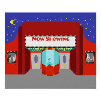 Retro Movie Theater Poster