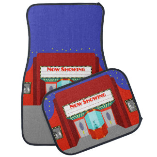 Retro Movie Theater Set of Car Mats