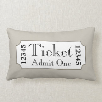 Retro Movie Ticket Cinema Pillow